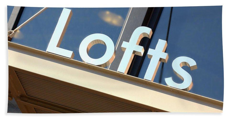 Loft Bath Sheet featuring the photograph Lofts by Jill Reger