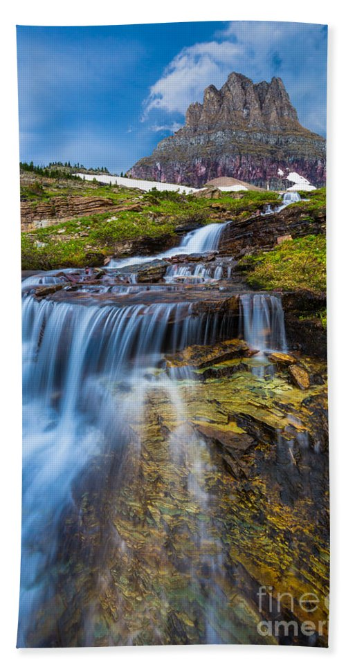 America Hand Towel featuring the photograph Logan Pass Stormclouds by Inge Johnsson