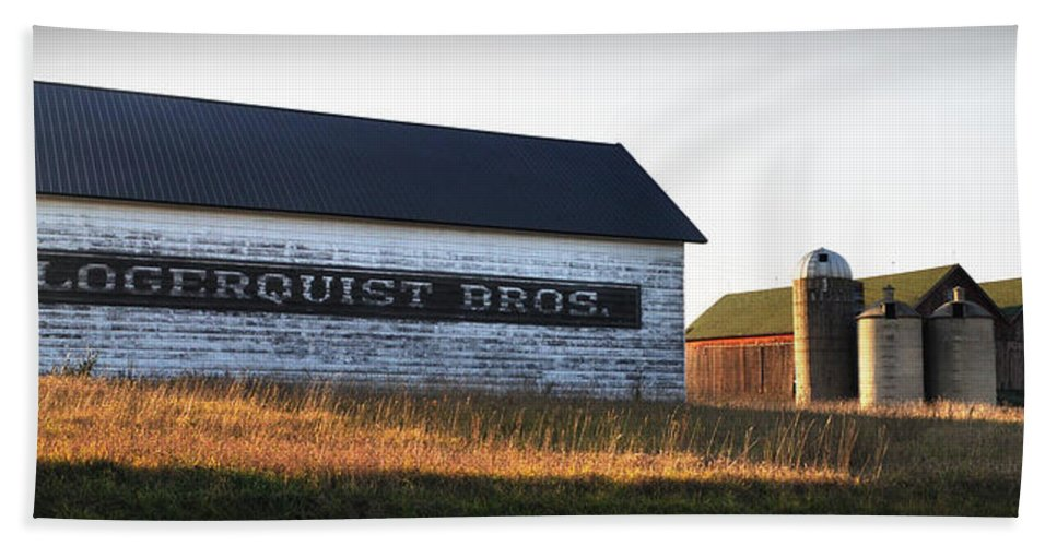 Fall Bath Towel featuring the photograph Logerquist Bros. by Tim Nyberg