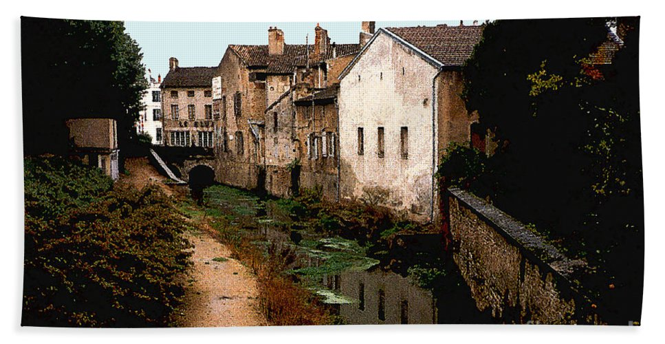 France Bath Sheet featuring the photograph Loire Valley Village Scene by Nancy Mueller