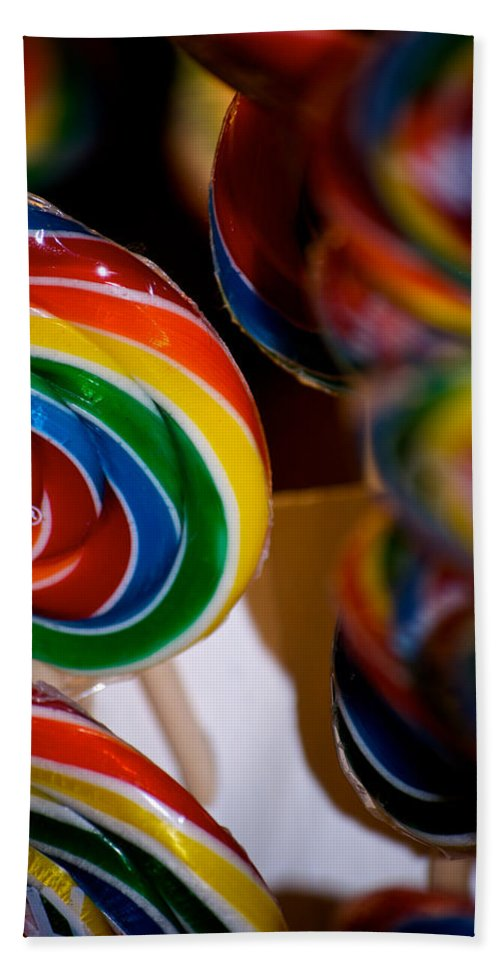 Lollipops Bath Sheet featuring the photograph Lollipops by Lisa Knechtel