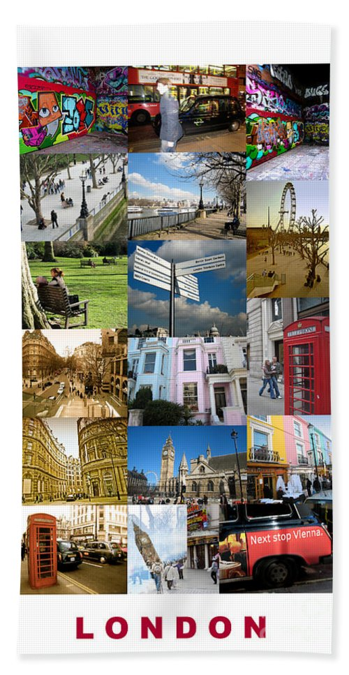 London Bath Sheet featuring the photograph London by Madeline Ellis