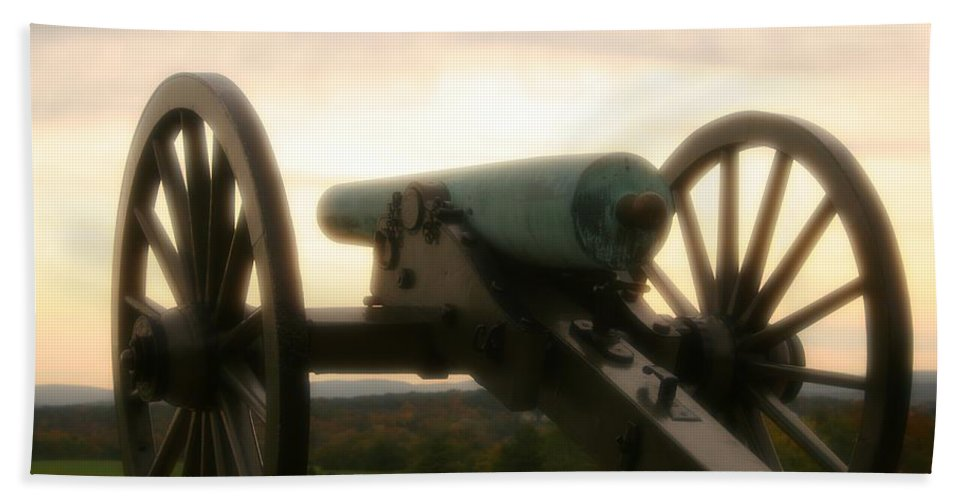 Gettysburg Bath Sheet featuring the photograph Lone Cannon by DJ Florek