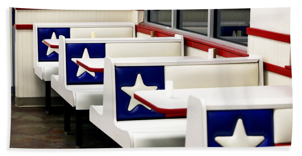 Americana Bath Sheet featuring the photograph Lone Star Dairy Queen by Marilyn Hunt