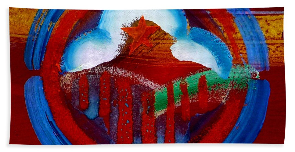 Star Hand Towel featuring the painting Lone Star State by Charles Stuart