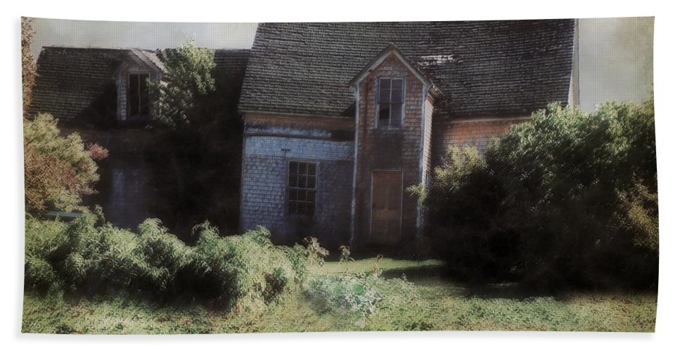 Landscape Hand Towel featuring the painting Long Ago And Far Away by RC DeWinter