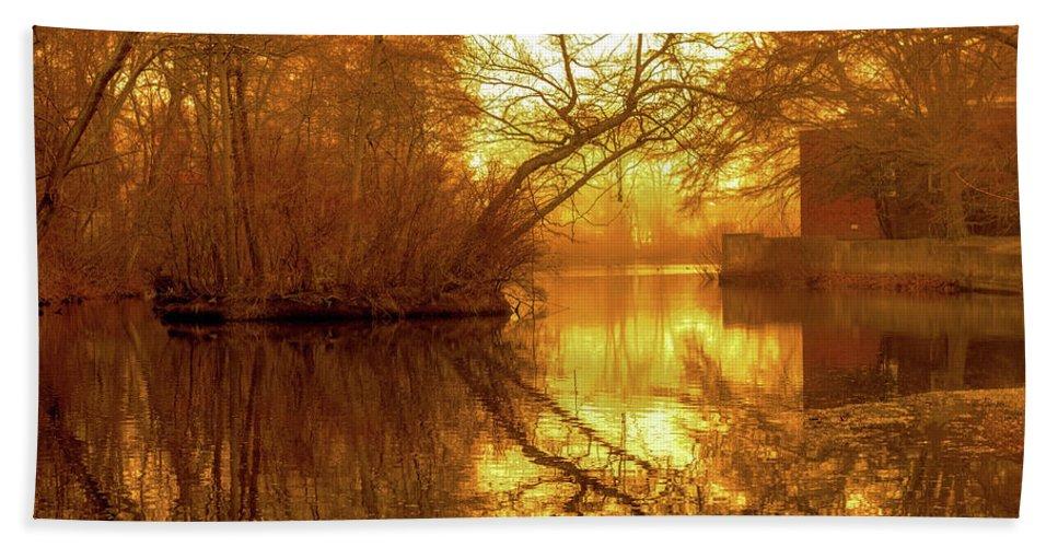 Long Island Bath Sheet featuring the photograph Long Island Gold  by Nicholas Sirois