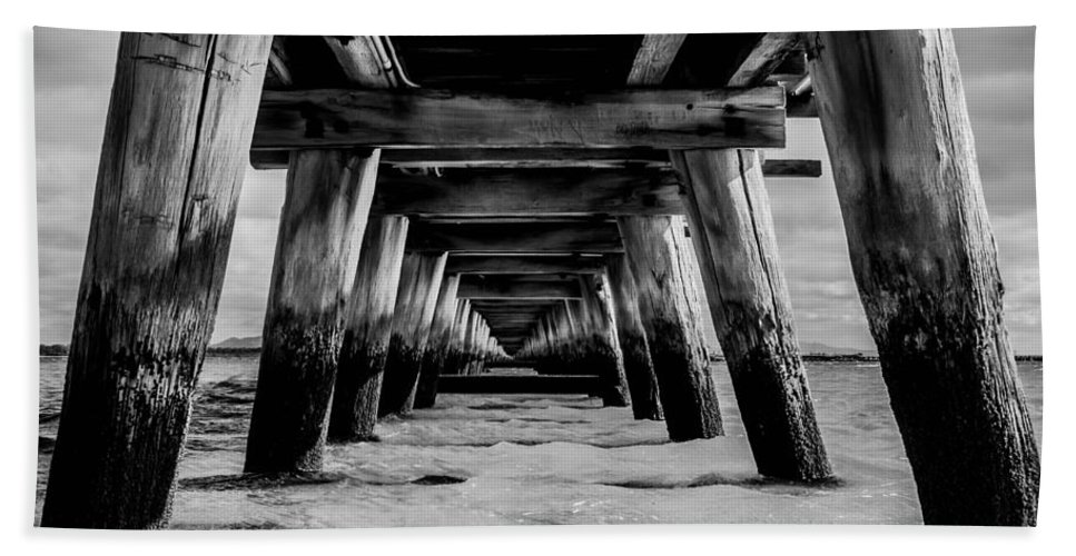 Jetty Bath Sheet featuring the photograph Long Jetty by Kym Papworth