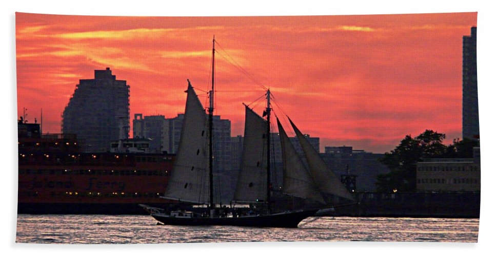 Ship Hand Towel featuring the photograph Long Journey Home by Kendall Eutemey