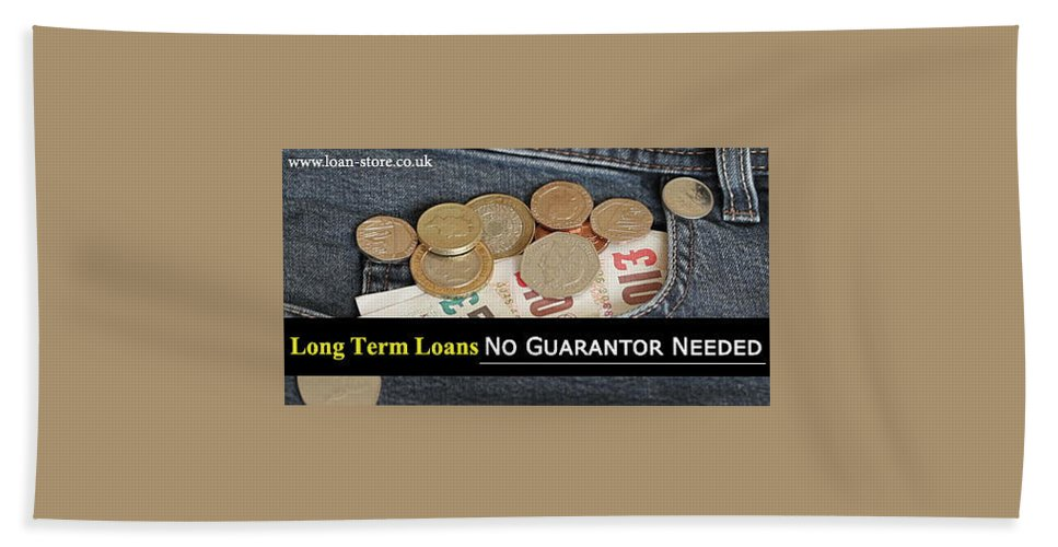 Loans Hand Towel featuring the drawing Long Term Loans For Bad Credit People With No Guarantor Needed by Anna Johnson