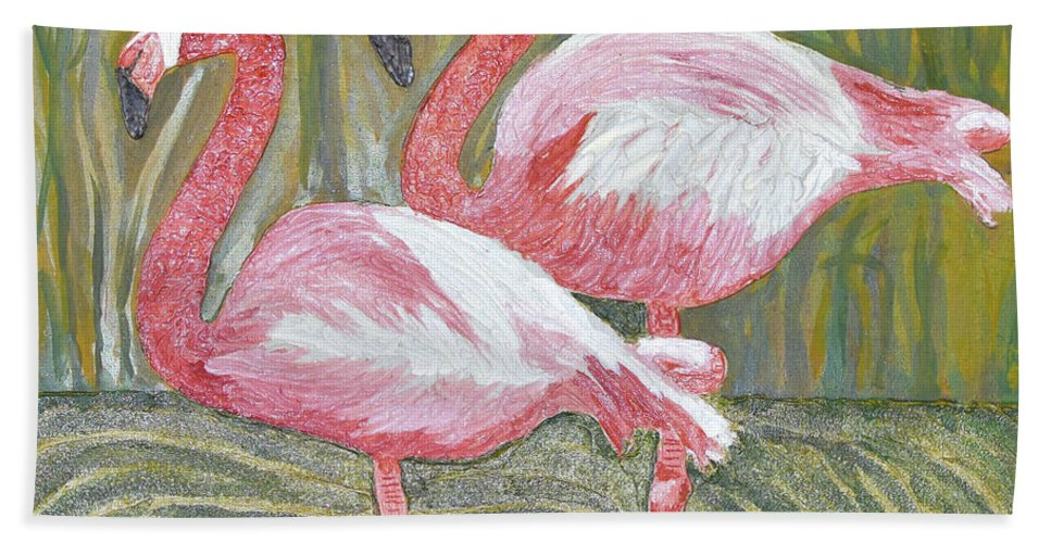 Looking At You Bath Sheet featuring the painting Looking At You by Christine Dekkers