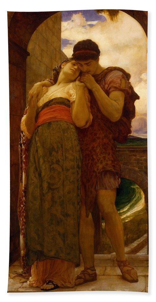 Man Hand Towel featuring the painting Lord Frederic Leighton - Wedded by Wedded