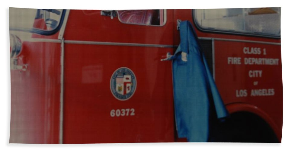 Los Angeles Fire Department Hand Towel featuring the photograph Los Angeles Fire Department by Rob Hans