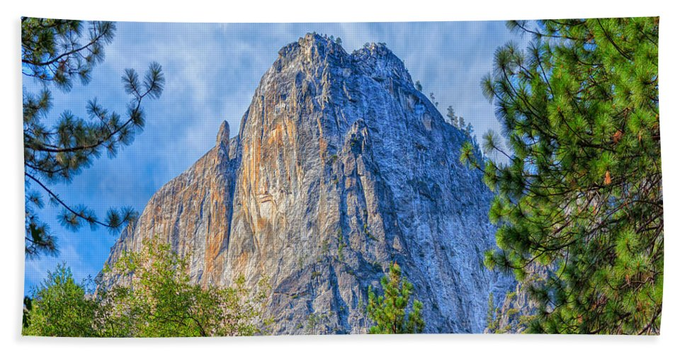 Landscape Bath Sheet featuring the photograph Lost Arrow Spire by John M Bailey