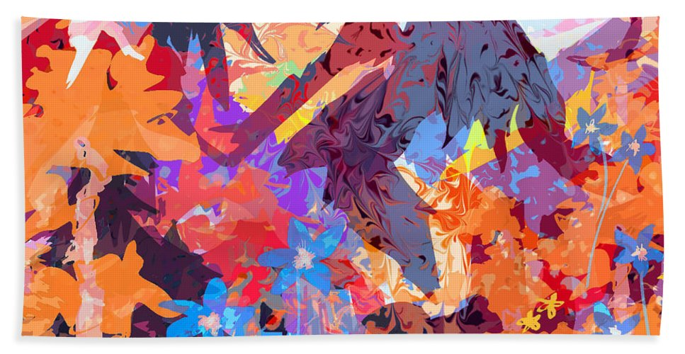 Abstract Bath Sheet featuring the digital art Lost In Colorado by Rachel Christine Nowicki