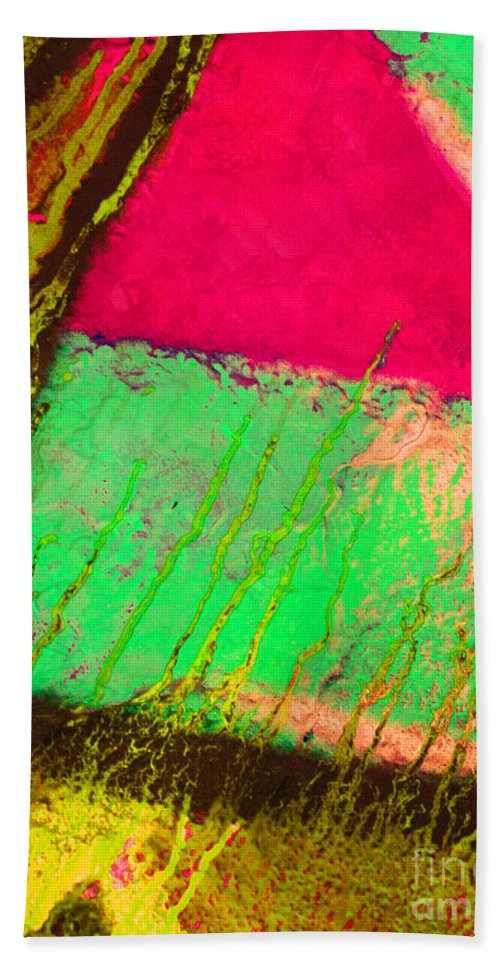 Abstract Hand Towel featuring the photograph Lost In Colour by Tara Turner