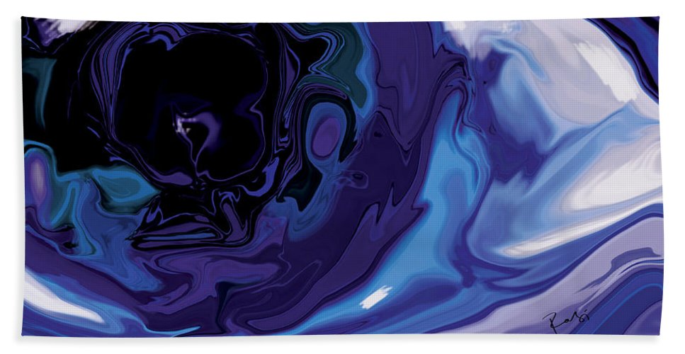 Blue Bath Sheet featuring the digital art Lost-in-to-the-eye by Rabi Khan