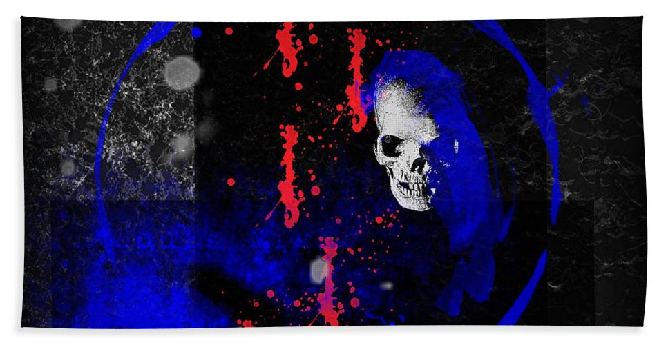 Lost Hand Towel featuring the digital art Lost Soul by Michael Damiani