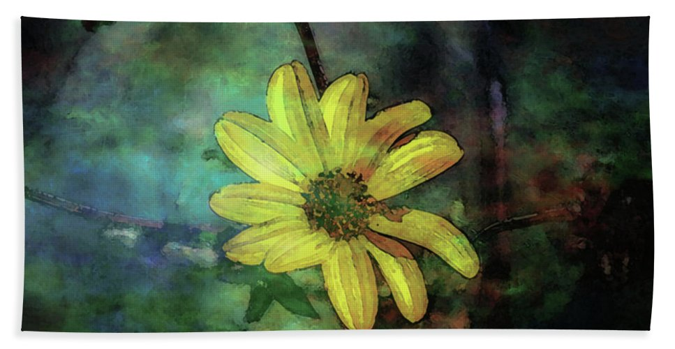 Lost Hand Towel featuring the photograph Lost Wild Flower In The Shadows 5771 Ldp_2 by Steven Ward