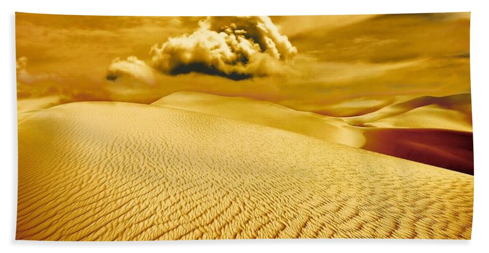 Desert Hand Towel featuring the photograph Lost Worlds by Jacky Gerritsen