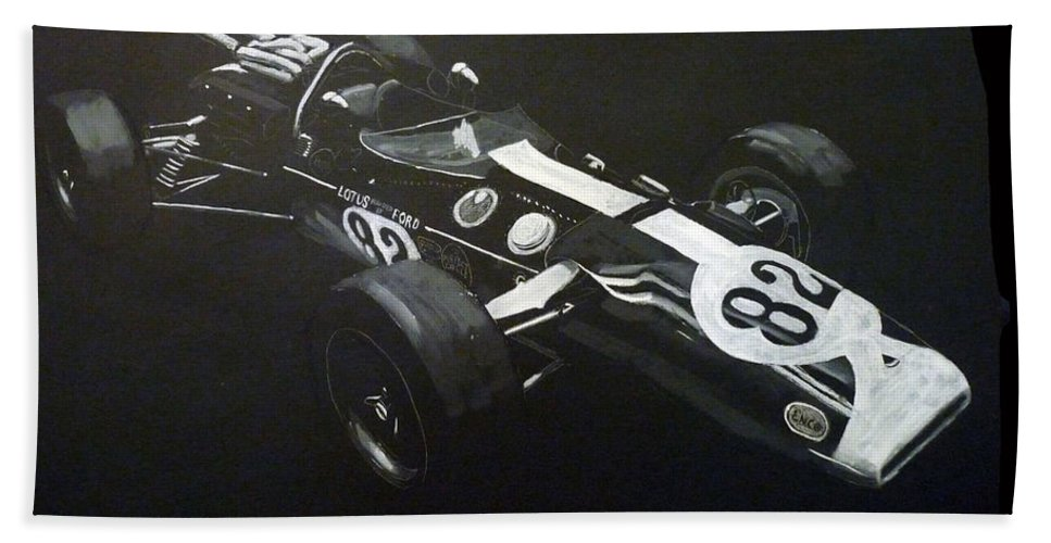 Lotus 38 Bath Sheet featuring the painting Lotus 38 No82 by Richard Le Page