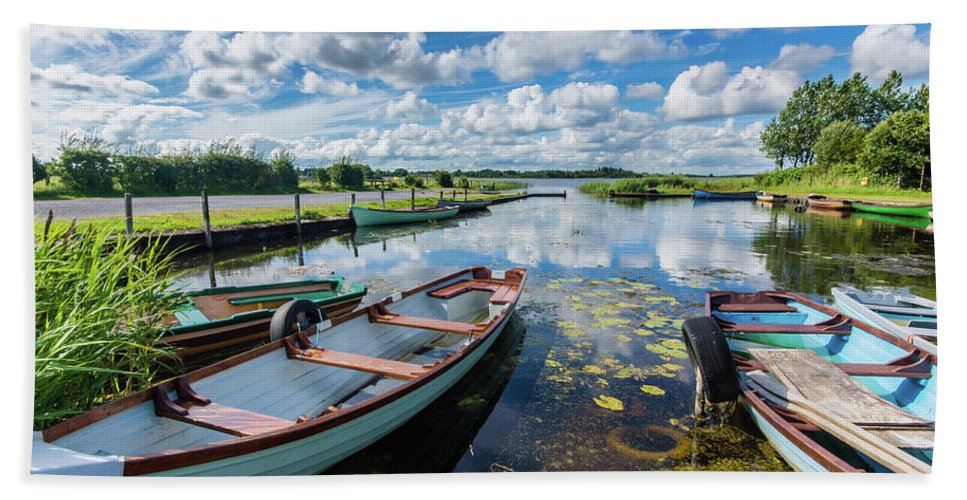 Landscape Bath Towel featuring the photograph Lough O'Flynn, Roscommon, Ireland by Anthony Lawlor