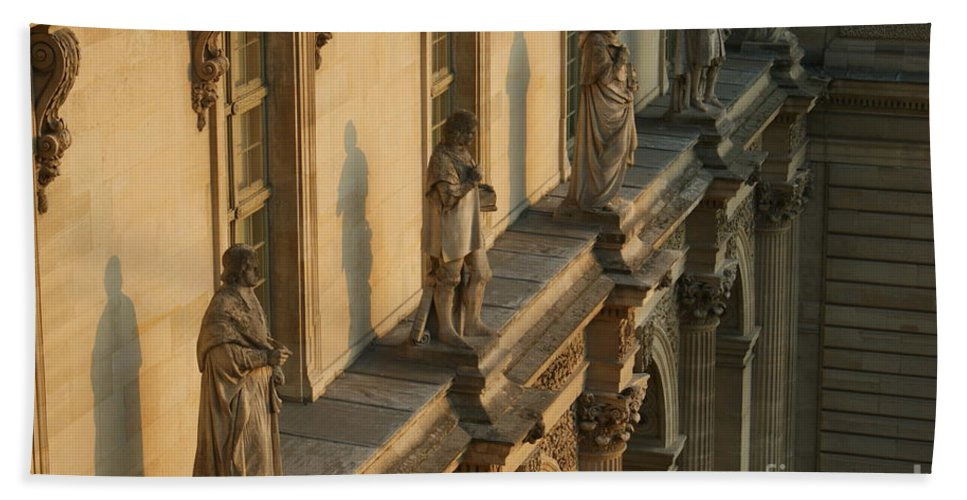 Louvre Hand Towel featuring the photograph Louvre Exterior by Christine Jepsen