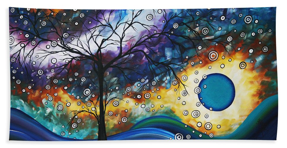 Wall Bath Towel featuring the painting Love And Laughter By Madart by Megan Duncanson