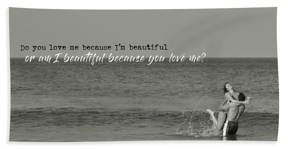 Love Bath Sheet featuring the photograph Love Birds Quote by JAMART Photography