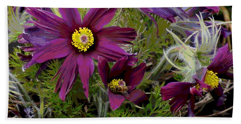 Flowers Bath Sheet featuring the photograph Love In The Spring by Ben Upham III
