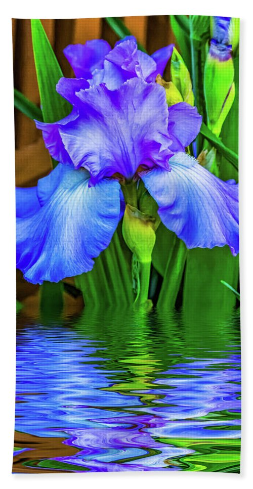 Flora Bath Sheet featuring the photograph Love Is Blue 2 by Steve Harrington