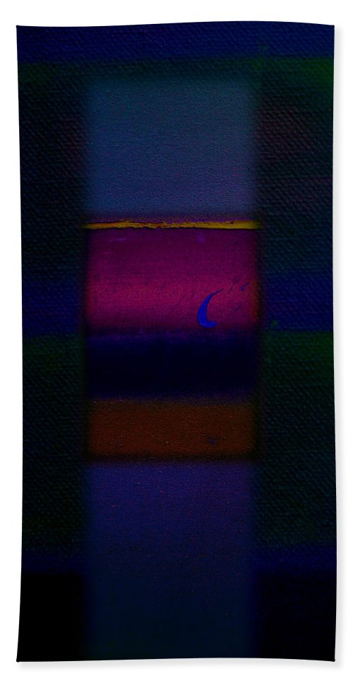 Rothko Hand Towel featuring the painting Love Is Blue by Charles Stuart