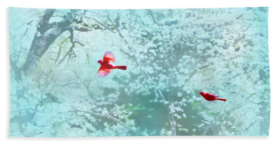 Susan Vineyard Bath Sheet featuring the photograph Love Is In The Air by Susan Vineyard