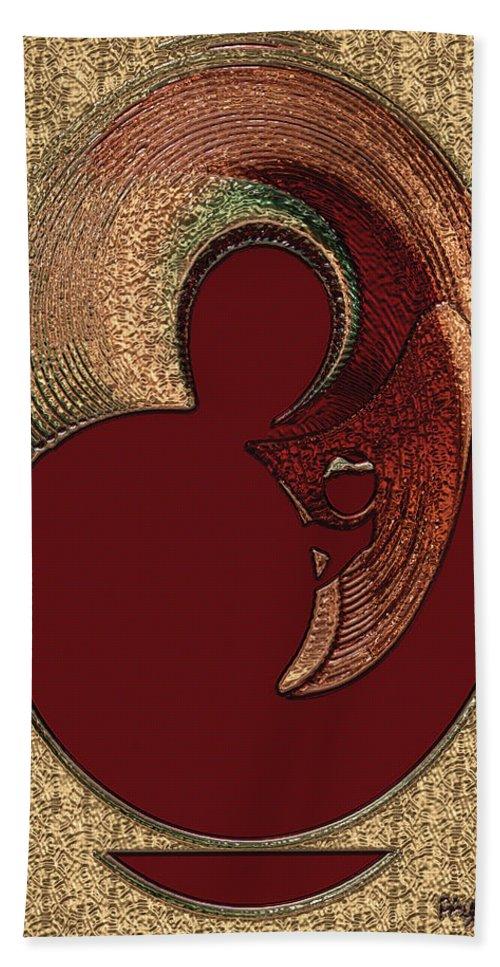 Paula Ayers Hand Towel featuring the digital art Love Is... by Paula Ayers