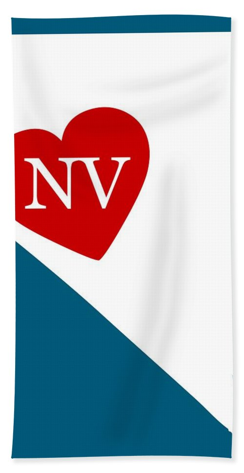 Nevada Hand Towel featuring the digital art Love Nevada White by Custom Home Fashions