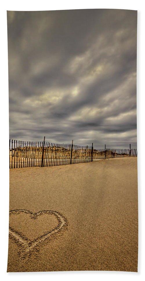 Beach Bath Sheet featuring the photograph Love On The Forecast by Evelina Kremsdorf