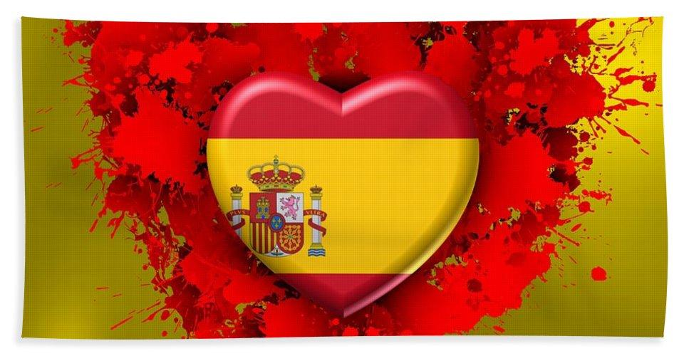 Love Hand Towel featuring the digital art Love Spain by Alberto RuiZ
