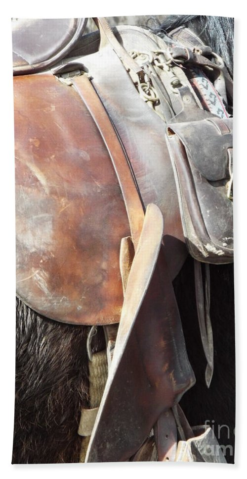 Horse Bath Sheet featuring the photograph Loved Leather Tack by Caryl J Bohn