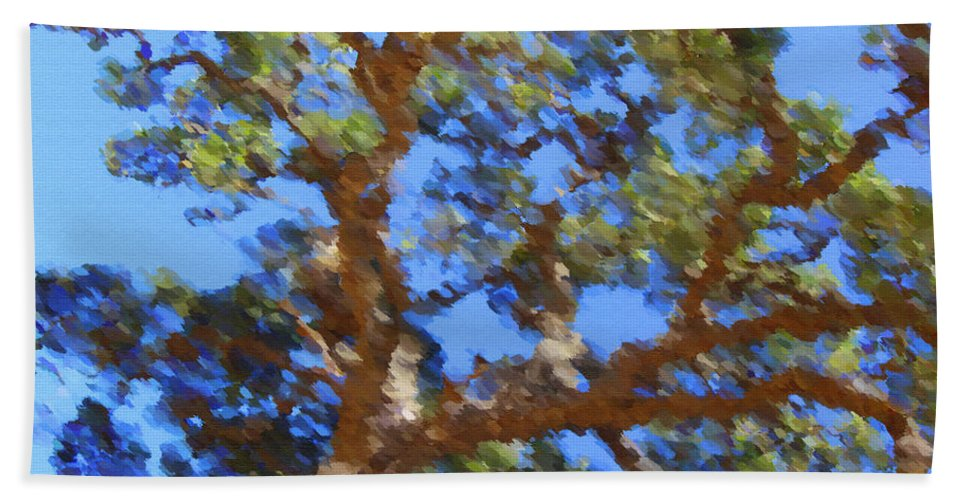 Oak Bath Towel featuring the digital art Lovely As A Tree by Donna Blackhall