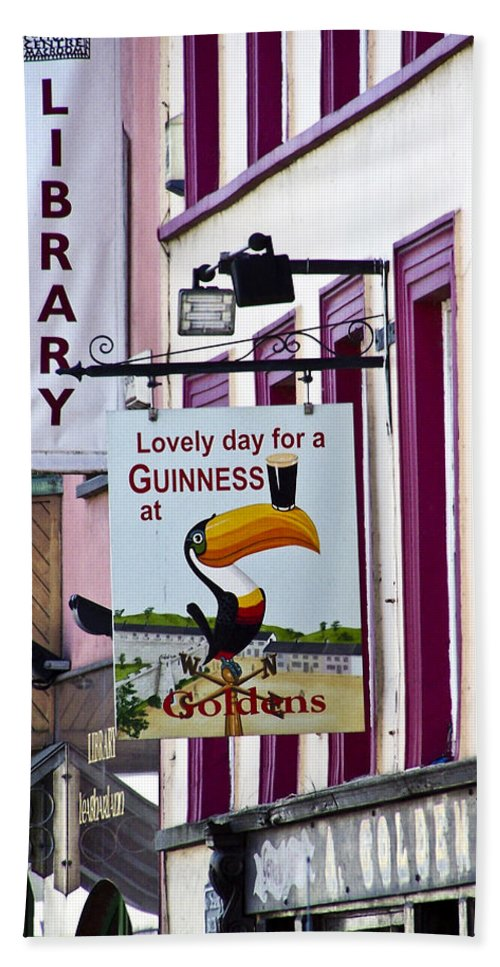 Irish Bath Towel featuring the photograph Lovely Day For A Guinness Macroom Ireland by Teresa Mucha