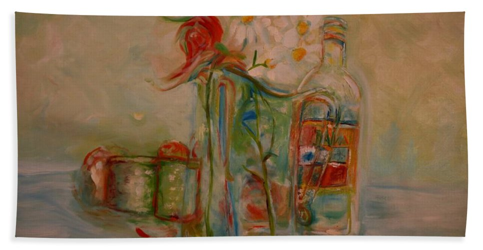 Rose Bath Sheet featuring the painting Lovers Picnic by Jack Diamond