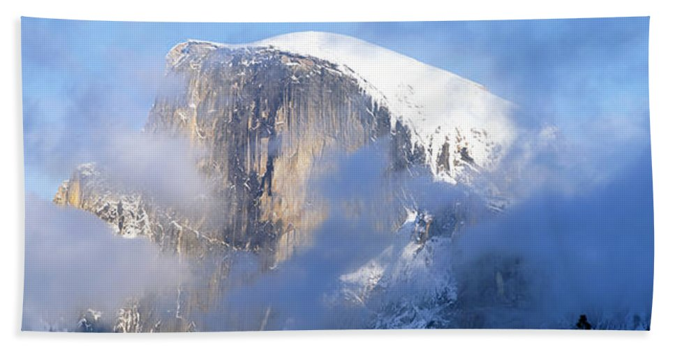 Photography Bath Sheet featuring the photograph Low Angle View Of A Mountain Covered by Panoramic Images