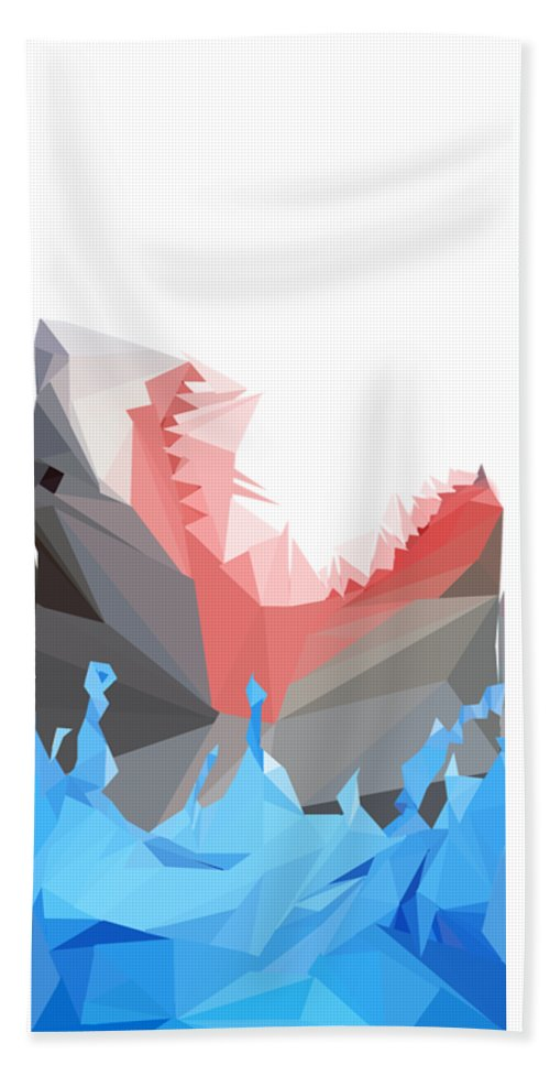 Shark Bath Sheet featuring the digital art Low Poly Shark by Ashley Wann