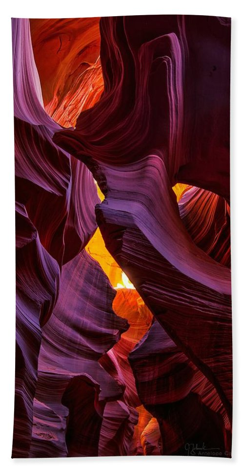 Antelope Canyon Bath Sheet featuring the photograph Lower Antelope Lines by James Zebrack