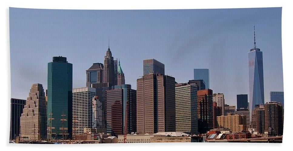 New York City Hand Towel featuring the photograph Lower Manhattan Nyc #2 by Christopher James