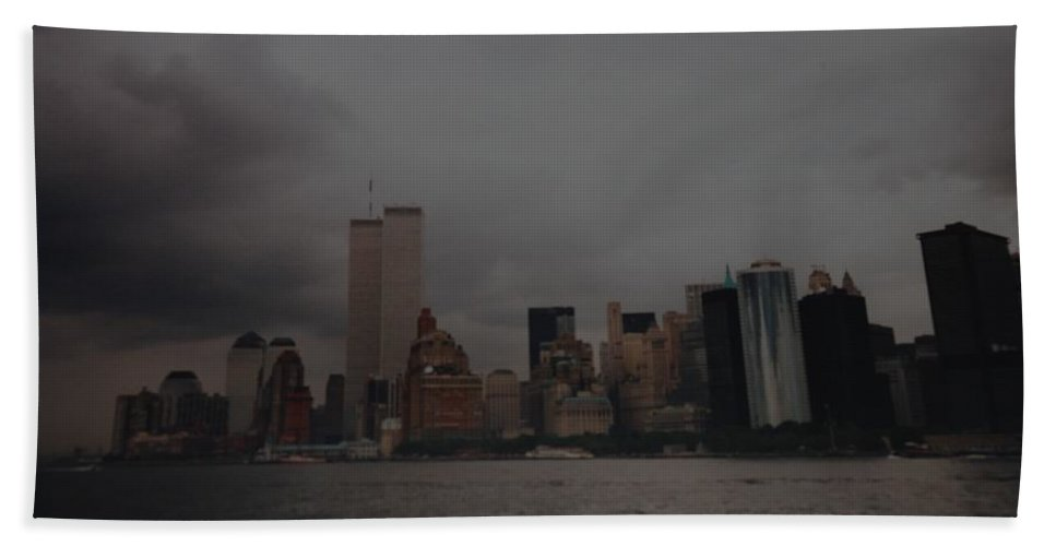 Wtc Bath Towel featuring the photograph Lower Manhattan by Rob Hans