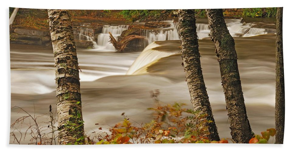 Tahquamenon Falls Hand Towel featuring the photograph Lower Tahquamenon Falls 5 by Michael Peychich