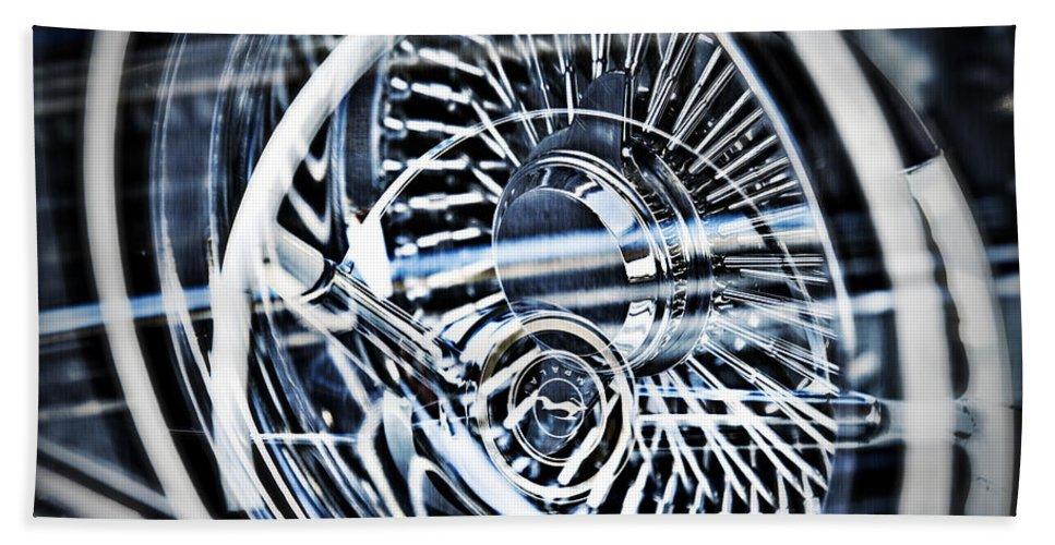 Lowrider Wheel Illusions Hand Towel featuring the photograph Lowrider Wheel Illusions 1 by Walter Herrit