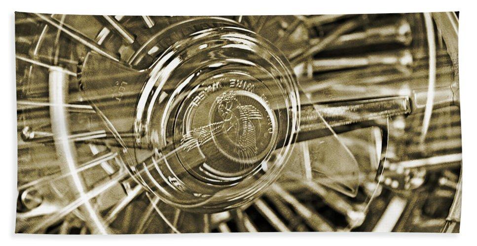 Lowrider Wheel Illusions Hand Towel featuring the photograph Lowrider Wheel Illusions 2 by Walter Herrit