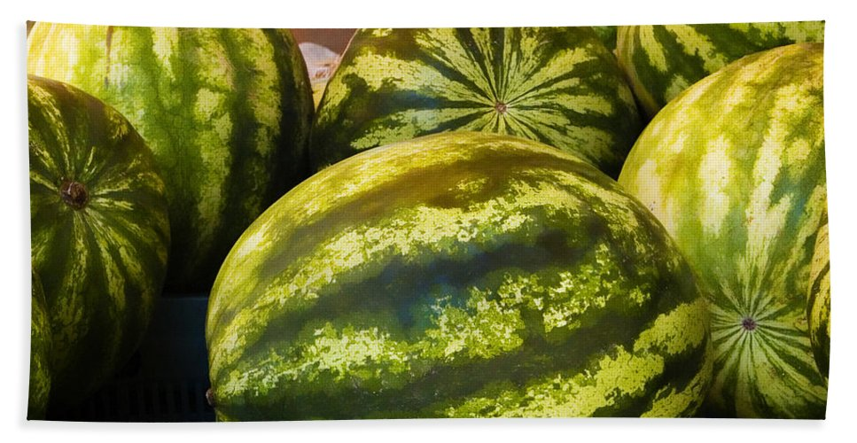 Lucious Hand Towel featuring the photograph Lucious Watermelon by Marilyn Hunt